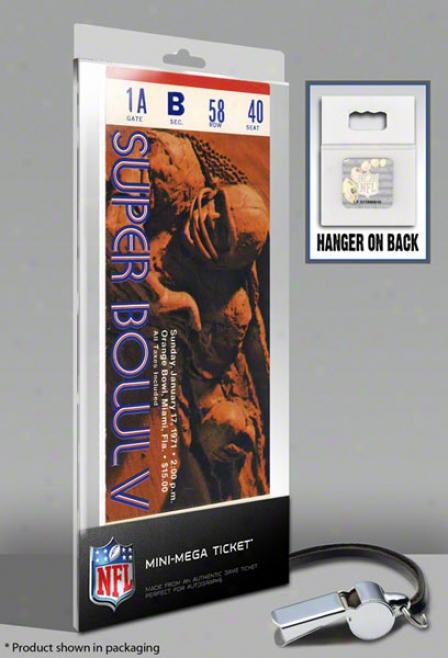 Indianapolis Colts Super Bowl V Mini-mega Ticket