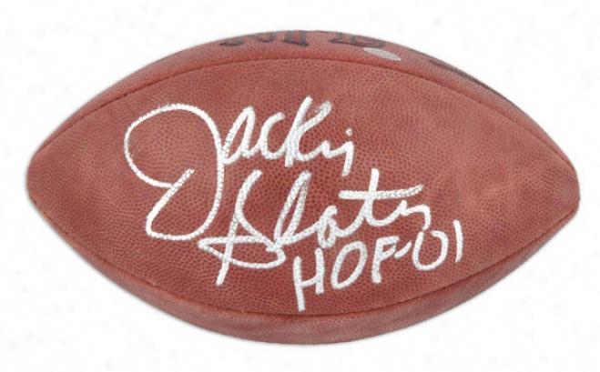 Jackie Slater Autographed Football  Details: Nfl Football