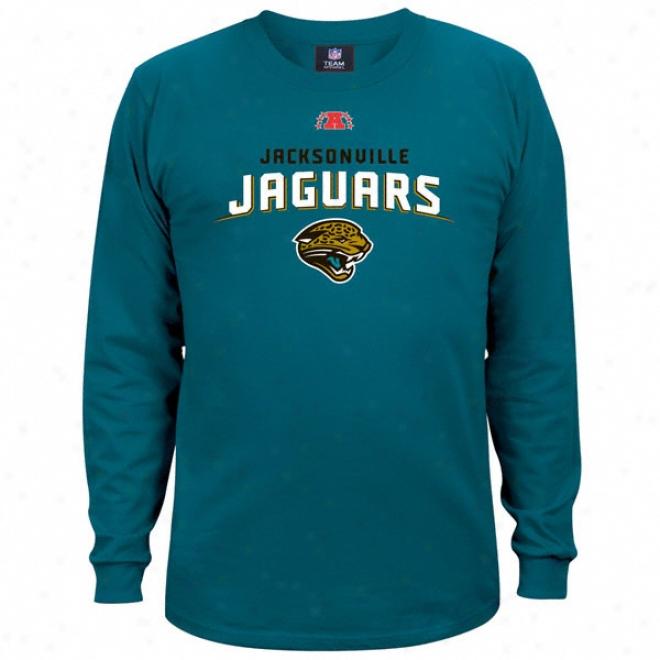 Jacksonville Jaguars Teal Critical Victory Iii Long Sleeve T-shirt