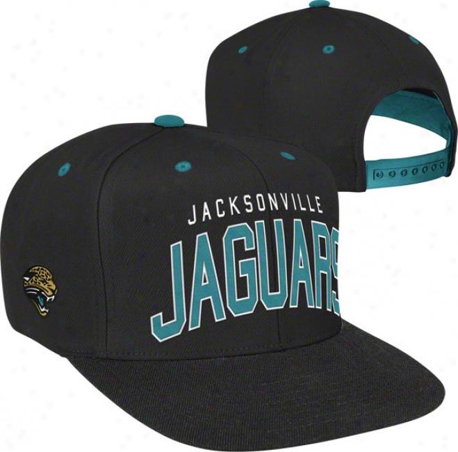Jacksomville Jaguars Team Arch Snapback Adjustable Hat