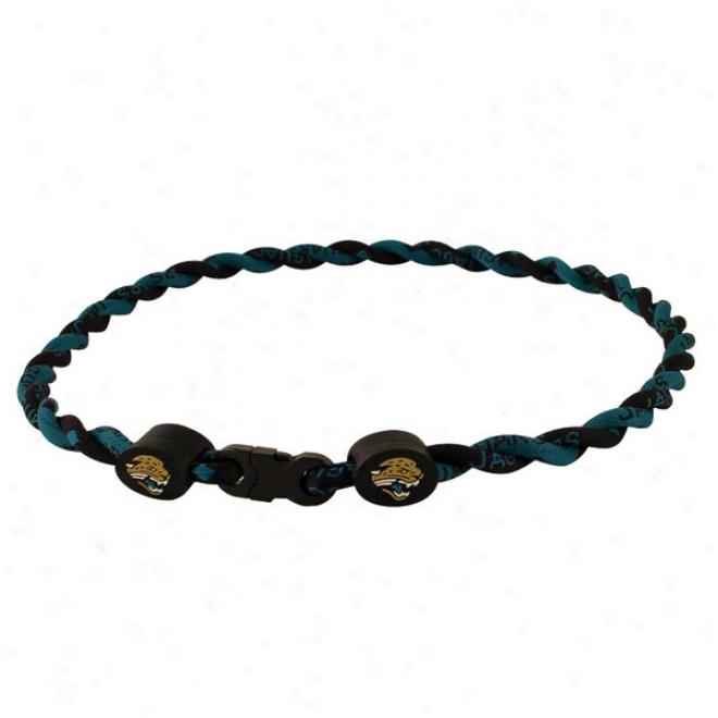 Jacksonville Jaguars Twist Titanium Necklace