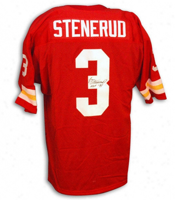 Jan Stenerud Autographed Red Jesey