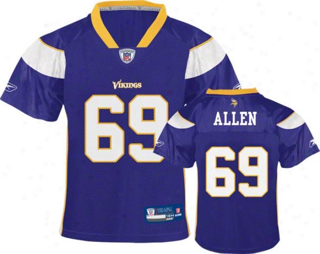 Jared Allen Purple Reebok Nfl Minnesota Vikings Infant Jersey