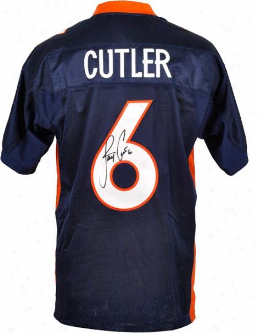 Jay Cutler Autographed Jersey  Details: Denver Broncos, Blue, Reebok