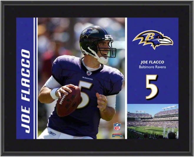 Joe Flacco Plaque  Details: Baltimore Ravens , Sublimated, 10x13, Nfl Plaque