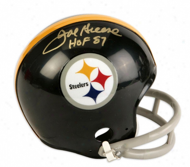 Joe Greene Pittsburgh Steelers Autographed Mini Helmet