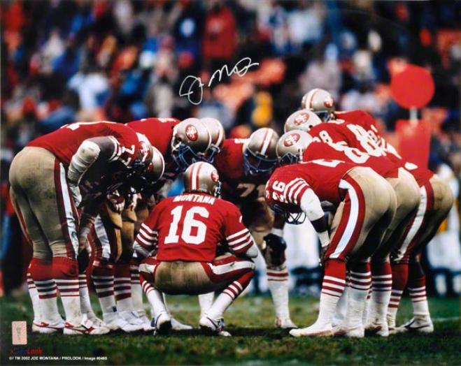 Joe Montana San Francisco 49ers 'huddle' 16x20 Autographed Photograph