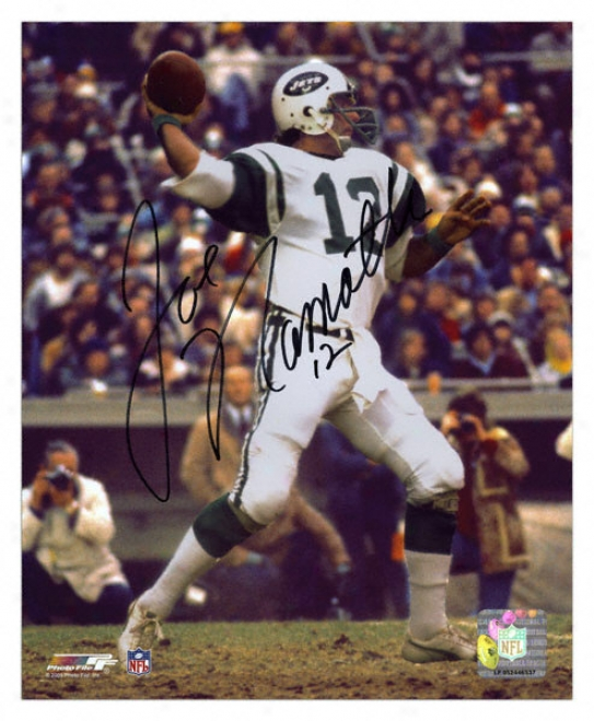 Joe Namath New York Jets Autographed 8x10 Photograph