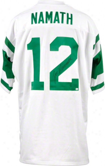 Joe Namath New York Jets Autographed Super Bowl Iii 1969 Jets Patch Mitchell And Ness Throwback Jersey