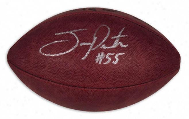 Joey Porter Autographed Football  Details: Pro Football