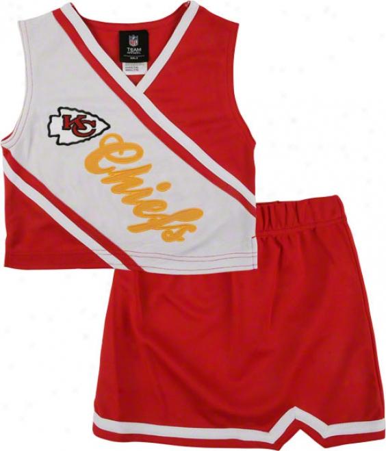 Kansas City Chiefs Girl's 4-6 Two-piece Cheerleader Set
