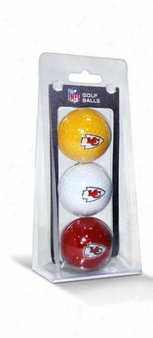 Kansas City Chiefs Golf Ball3  Paack