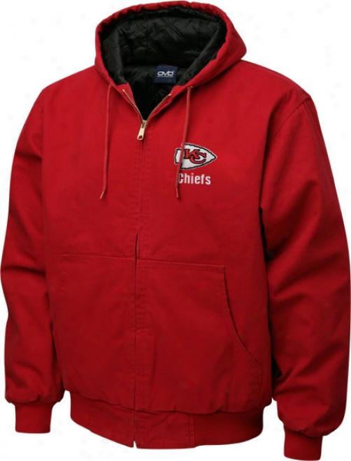 Kansas City Chiefs Jacket: Red Reebok Cumberland Jacket