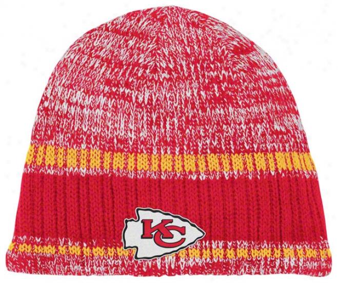 Kansas City Chiefs Knit Hat: Heathered Uncuffed Knit Hat