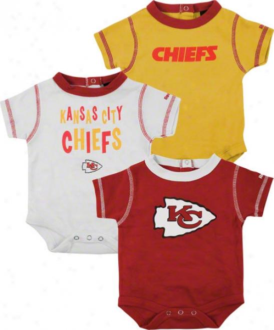 Kansas City Chiefs Newborn 3-piece Creeper Set