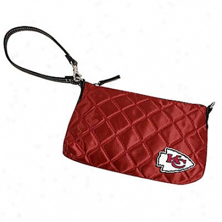 Kansas City Chiefs Quilted Wristlet