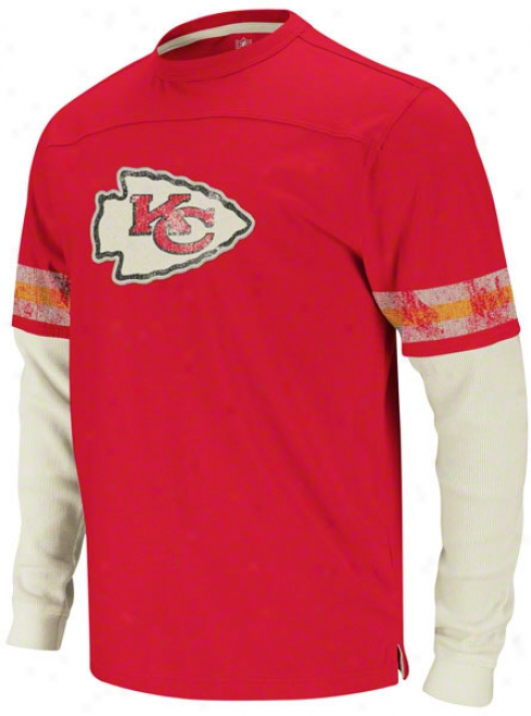 Kansas City Chiefs Red Vintage Thermal Long Sleeve Shirt