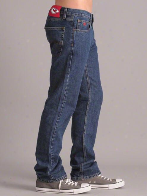 Kandas iCty Chiefs Stone Wash Gridiron Classic Denim Jeans