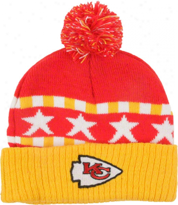 Kansas City Chiefs Toddler Cuffed Knit Pom Hat