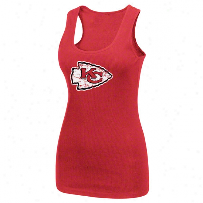 Kansas City Chiefs Womens' Play Time Iv Red Tank Top