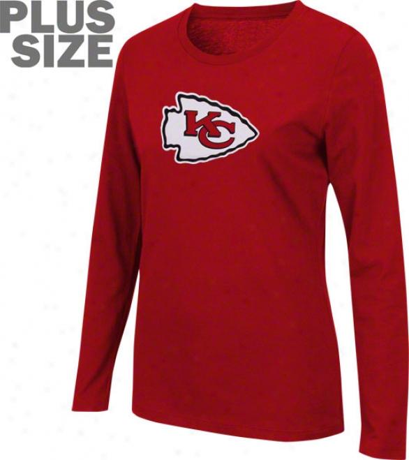 Kansas City Chiefs Women's Plus Size Jazzed Up Long Sleeve Tee