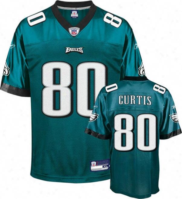 Kvein Curtis Jersey: Reebok Green Replica #80 Philadelphia Eagles Jersey