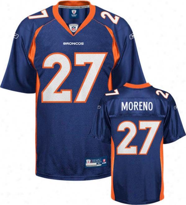 Knowshon Moreno Navy Reebok Nfl Replica Denver Broncos Kids 4-7 Jersey