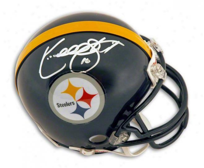 Kordell Stewart Autographed Pittsburgh Steelers Mini Helmet