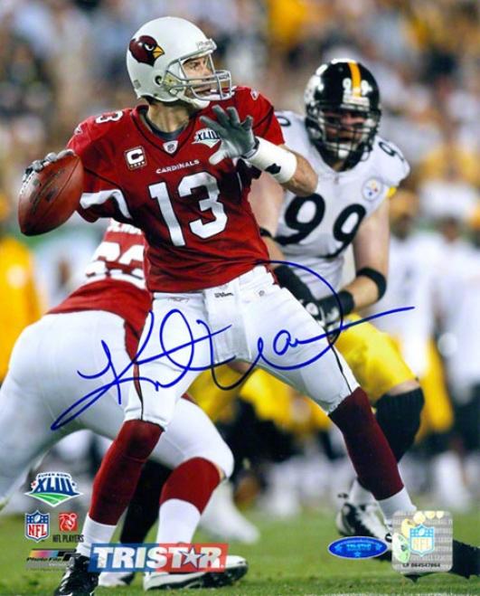 Kurt Warner Arizona Cardinals - Super Hollow Xllll - Autographed 8x10 Photograph