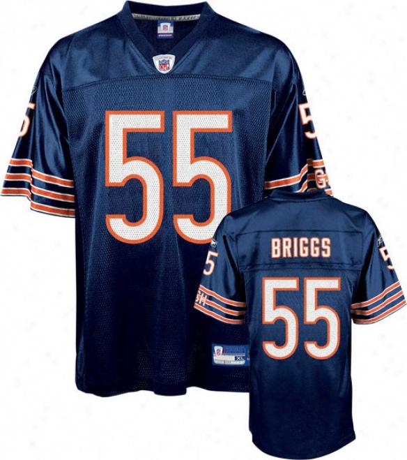 Lance Briggs Jersey: Reebok Navy Replica #55 Chicago Bears Jersey
