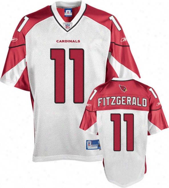 Larry Fitzgerald White Reebok Nfl Premier Arizona Cardinals Jersey