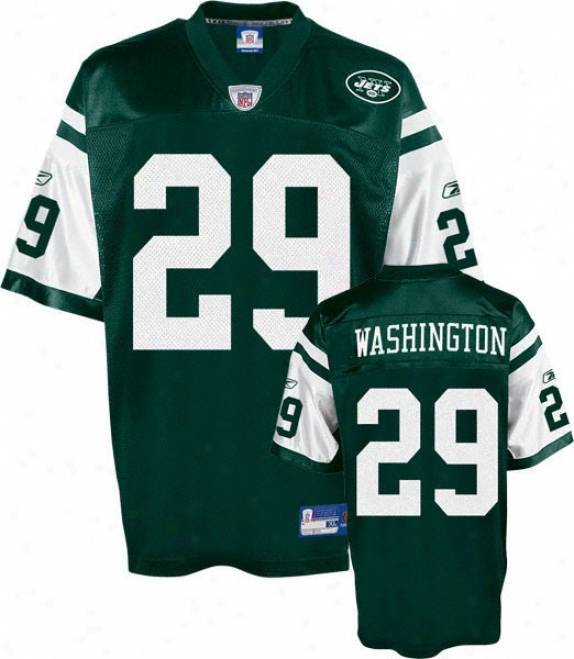 Leon Washington Youth Jersey: Reebok Green Replica #29 New York Jets Jersey