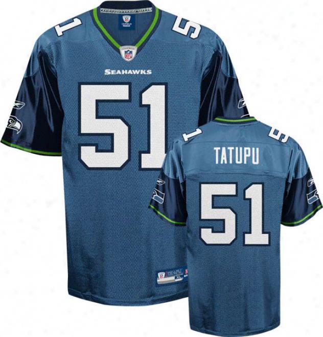 Lofa Tatupu Jersey: Reebok Blue Replica #51 Seattle Seahawks Jersey
