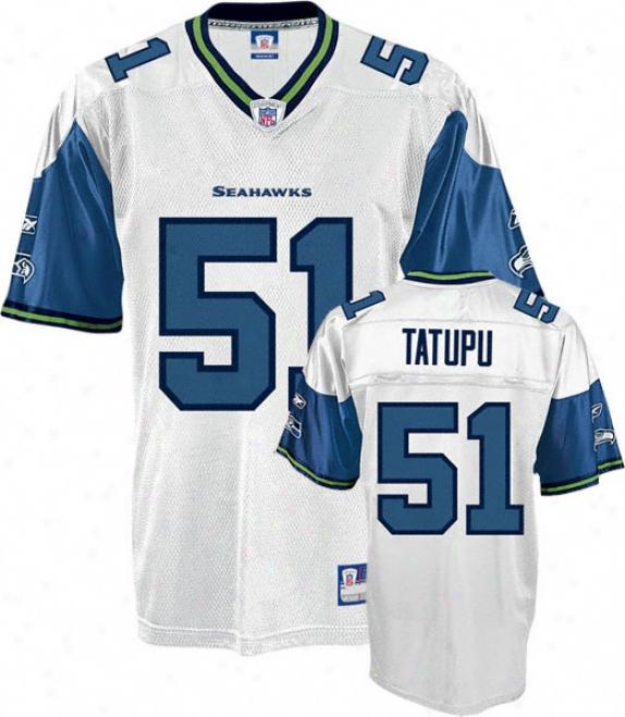 Lofa Tatupu Jersey: Reebok White Replica #51 Seattle Seahawks Jersey
