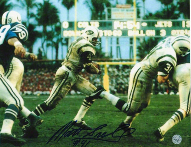 Matt Snell New York Jets Autographed 8x10 Photo