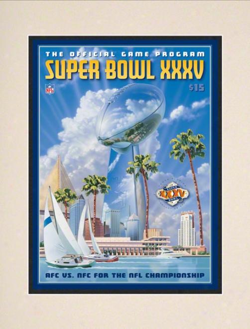 Matted 10.5 X 14 Super Bowl Xxxv Program Print  Details: 2001, Ravens Va Giants