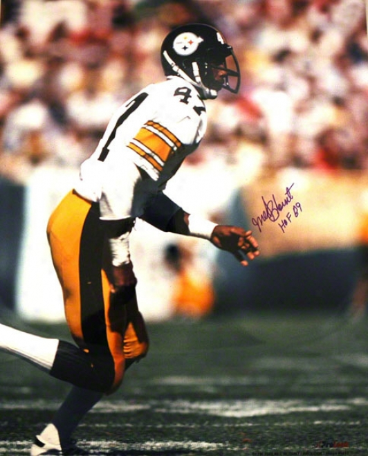 Mel Blount Pittsburgh Steelers Autographed 16x20 Photo On The Run
