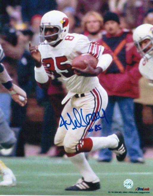 Mel Gray St. Louis Carfinals Autographed 8x10 Photo Running With The Ball