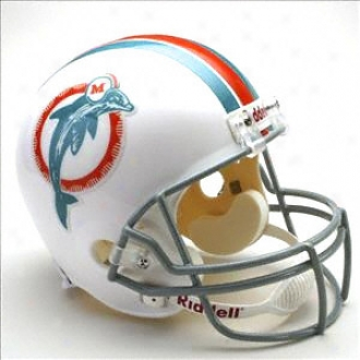 Miami Dolphins 1973-1979 Deluxe Replica Riddell Throwback Comprehensive Size Helmet