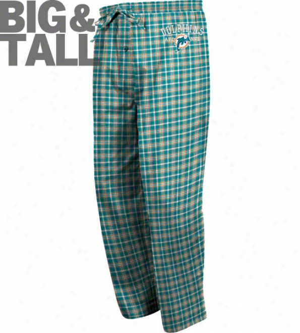 Miami Dolphins Big & Tall Flannel Pants