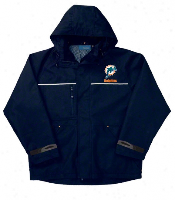 Miami Dolphins Jacket: Navy Reebok Yukon Jacket