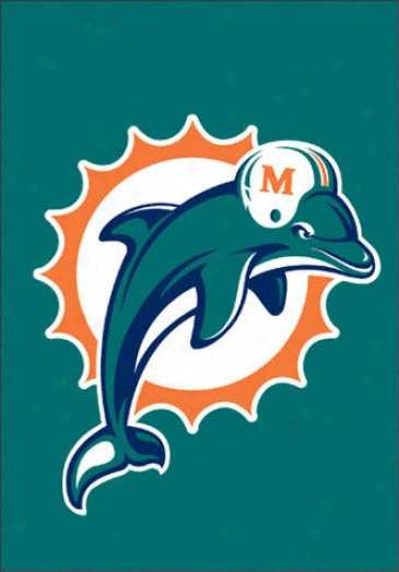 Miami Dolphins Window Flag-stone