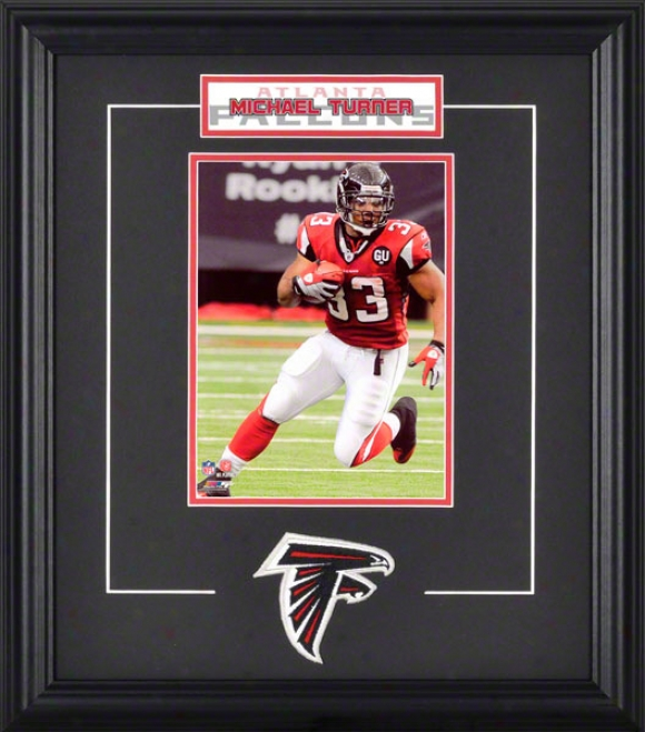 Michael Turner Framed 6x8 Photograph With Team Logo & Plate