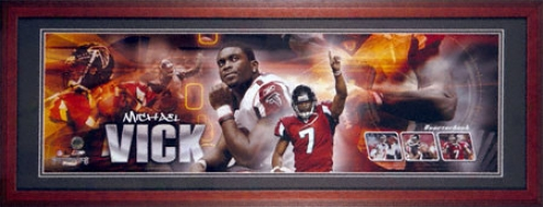 Michael Vick Atlznta Falcons Framed Unsigned Panoramic Photograph