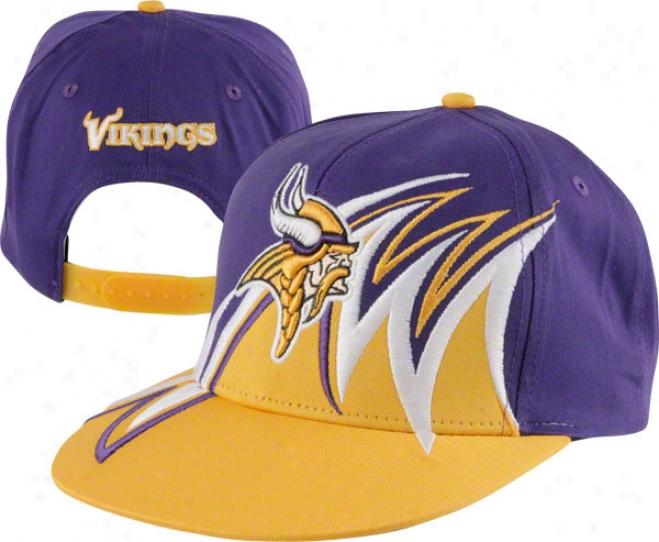 Minnesota Vikings 2 Tone Reverse Slash Snapback Hat