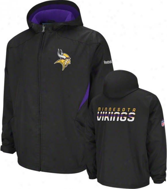 Minnesota Vikings Black 2011 Sideline Kickoff Midweight Jacket
