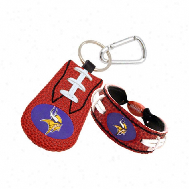 Minneesota Vikings Bracelet & Keychain Set