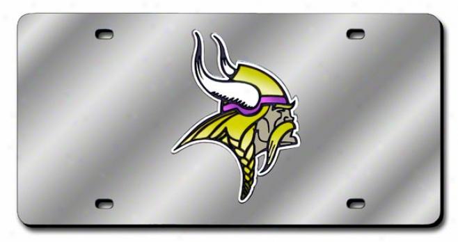 Minnesota Vikings License Plate Laser Tag