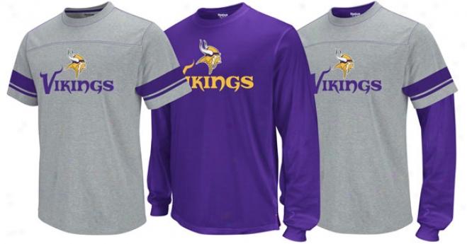 Minnesota Vikings Option 3-in-1 Purple Long Sleeve T-shirt Combo Pack