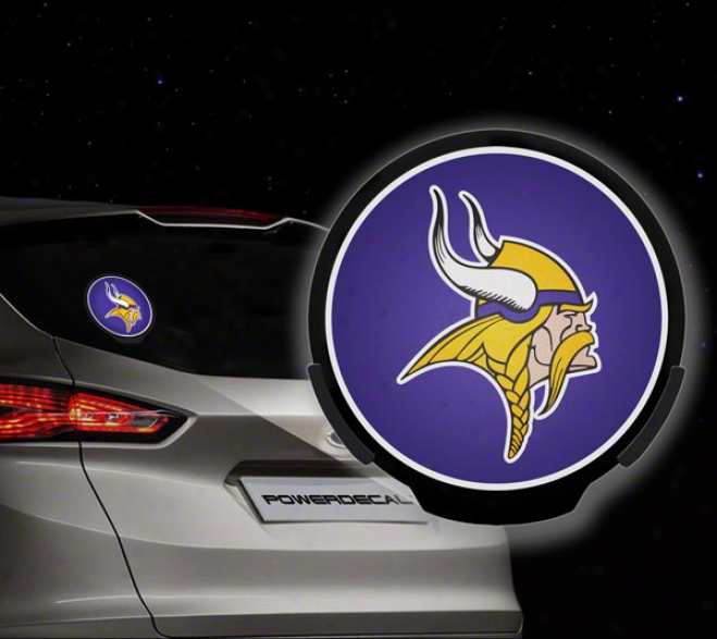 Minnesota Vikings Power Decal: Light Up Decal